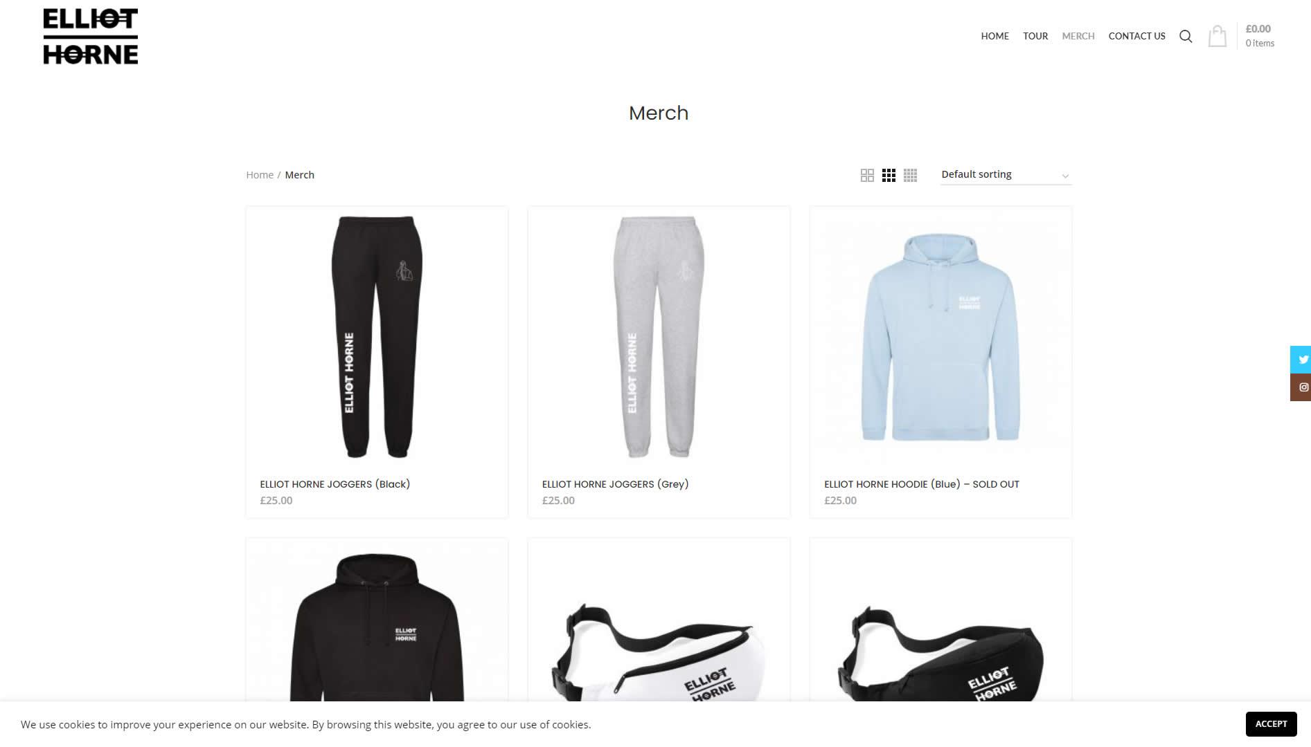 Elliot Horne - online shop web designer